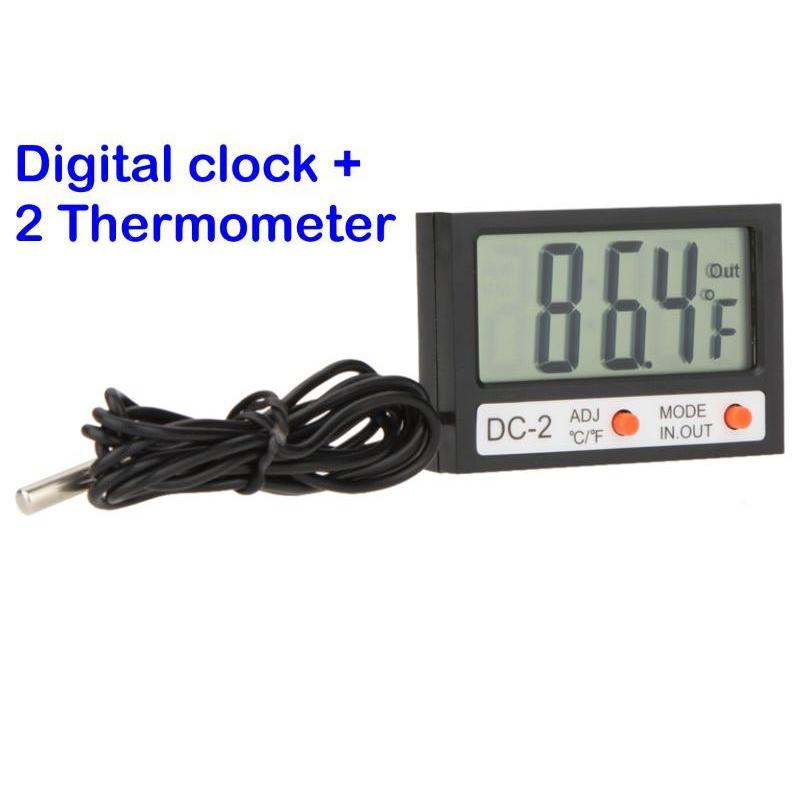 Termometro moto bici orologio cavo sonda acquario dc 2 for Termometro per acquario tartarughe