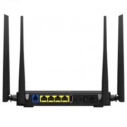 Modem roteador ADSL2+ WIFI IPTV ISP NAS USB com USB e 4 Antenas