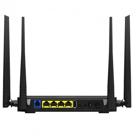 Modem router ADSL2+ WIFI IPTV ISP NAS USB con USB y 4 Antenas