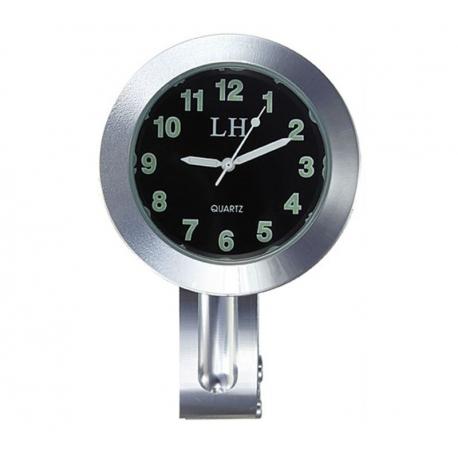Relógio de moto para guidão com braçadeira barra Metal cromado