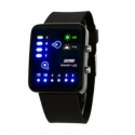 SKMEI 0890 men led binary watch fashion black 3ATM