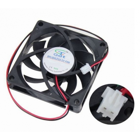 Ventilador 2PIN cooler fan 70mm 7cm 12v CPU cable de 2 pines