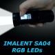 Linterna fotografo IMALENT SA04 LED XM-L2 CREE pantalla tactil