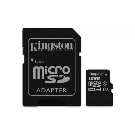 16GB MICROSDHC Kingstone Clas10 de la carte microSD de la Toile
