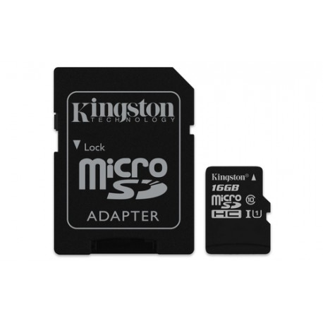 16GB MICROSDHC Kingstone Clas10 microSD card the Canvas to