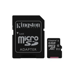 64GB tarjeta kingston Clase 10 MICROSDXC CANVAS microSD SD