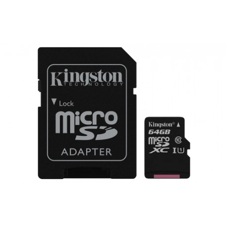 64GB tarjeta kingston Clase 10 MICROSDXC CANVAS microSD SD