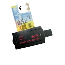 Leitor de Cartão de IDENTIFICAÇÃO-e BI-Mail USB 3.0 ISO7816 SCR80