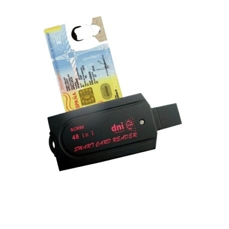 Lector Tarjetas de DNI-e DNI Electronico 3.0 USB ISO7816 SCR80