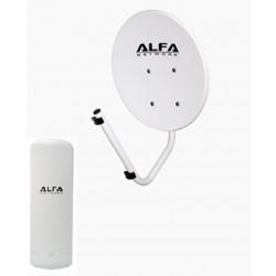 Antenne parabolique pour recevoir le WiFi Rj45 disque externe 22dbi + N2S CPE Poe 20km