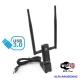Antena wi-fi AC USB 3.0 Alfa AWUS036AC longo alcance 5GHZ