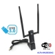 USB 3.0 Wireless Adapter with External Antenna AC dual band a
