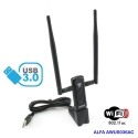 Antenna WIFI AC USB 3.0 Alfa Rete AWUS036AC a lungo raggio 5GHZ