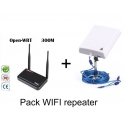 Pack Router repetidor Openwrt USB + Antena WIFI 36dbi Panel 10m