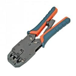 Pinza per crimpare i cavi e i connettori RJ45, RJ12, RJ11 cricchetto