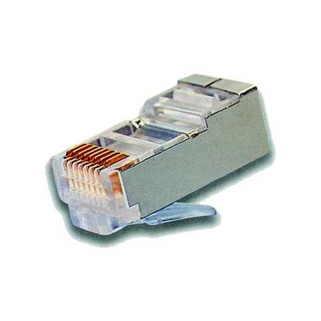 RJ45 connector for CAT6 cable Shielded, for crimp