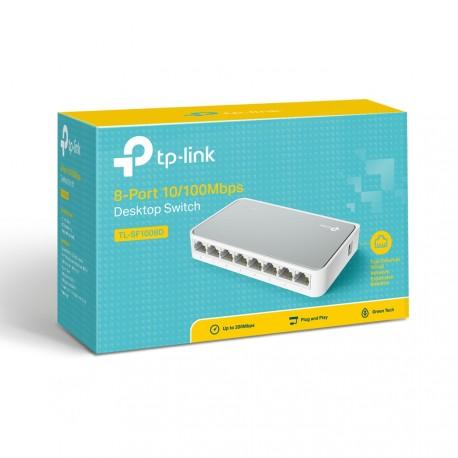 TL-SF1008D Switch de 8 Portas LAN RJ45 Tp-Link para a área de