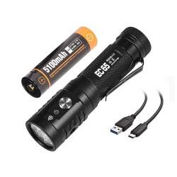 Torcia elettrica ricaricabile tramite USB ACEBEAM EC65 4000 lumen CREE XHP35 LED HI