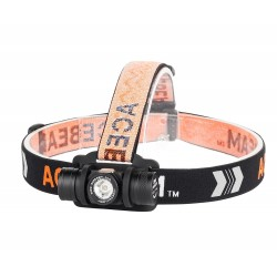 Acebeam H40 Front LED light intense cool white 6500K running