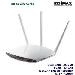 Router doble banda 5ghz WIFI AC Edimax BR-620AC AC750 WISP AP