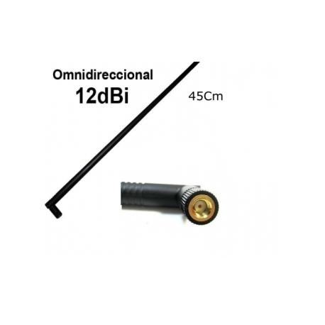 Antena WIFI 12dbi Omnidireccional Alta Ganancia 2,4gHz SMA 45Cm