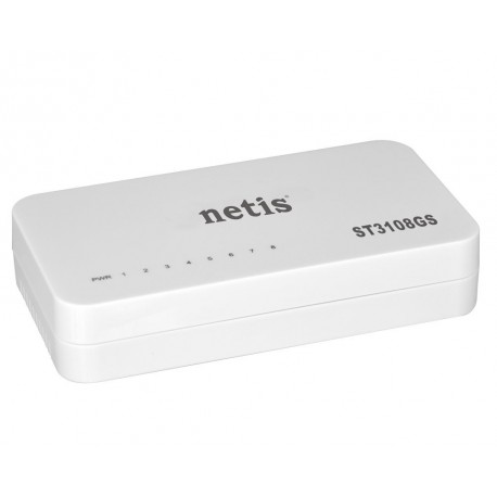 NETIS ST3108GS SWITCH 8 puertos Gigabit 1000 MBPS mini AUTO