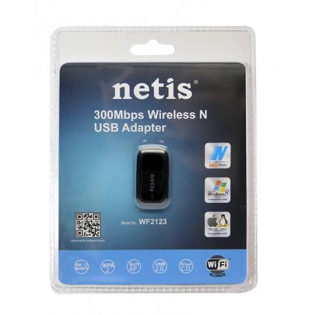 NETIS WF2123 mini Adaptador WiFi USB de 2,4 Ghz 2T2R 300 MBPS
