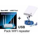 Pack router Openwrt ripetitore USB + antenna wifi 36dbi