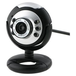 USB 6 LED Webcam PC Kamera mit Mikrofon HD Web-Cam, PC-Mikrofon