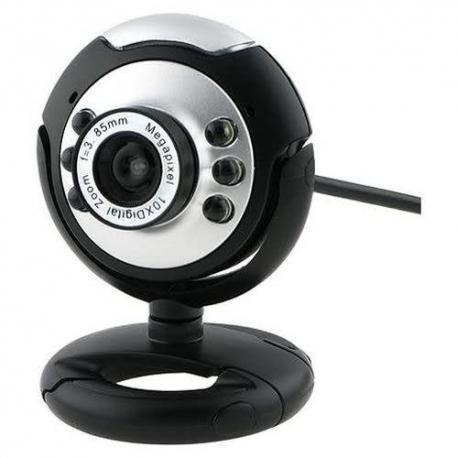 USB 6 LED Webcam PC Camera with Mic HD Web Cam PC Microphone