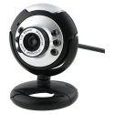 USB 6 LED Webcam PC Camera with Mic HD Web Cam PC Microphone