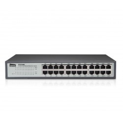"SWITCH 24-PORT 10 / 100MBPS 13"" RACK 19"". AUTO MDI/MDI-X full-duplex and flow control"