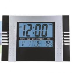 Relógio digital de parede de cozinha e escritório numeros grandes Preto
