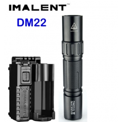Imalent DM22 LED-taschenlampe 930Lm + hülle, gürtel, ladegerät, USB-HDM10