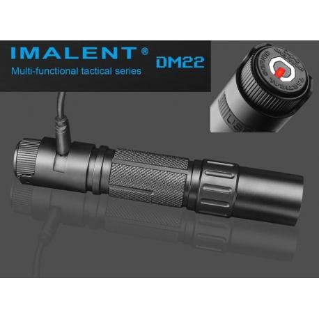 Torcia elettrica ricaricabile tramite USB Imalent DM22 930LM led XM-l2 U4