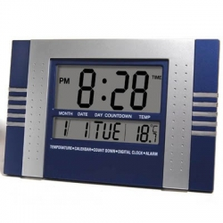 Horloge numérique mur de la cuisine et du bureau des numéros de grand Bleu
