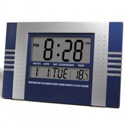Relógio digital de parede de cozinha e escritório numeros grandes Azul
