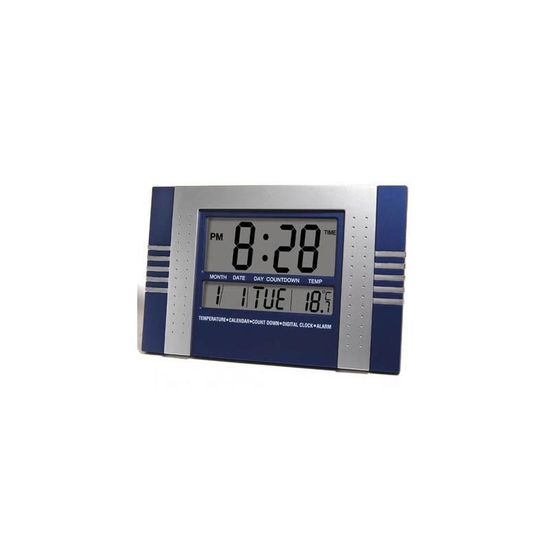 Orologio digitale da parete cucina e office numeri blu siliceo pt - Orologio da tavolo digitale ...