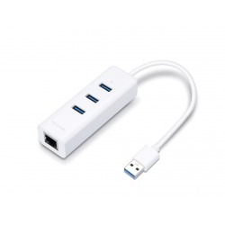 TP-Link UE330 Adattatore Gigabit Ethernet + Hub 3 Porte USB 3.0