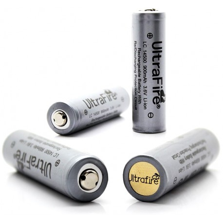 Ultrafire 14500 Protegida 3.6v 900ma gris con cirduito PCB sin memoria para linternas LED