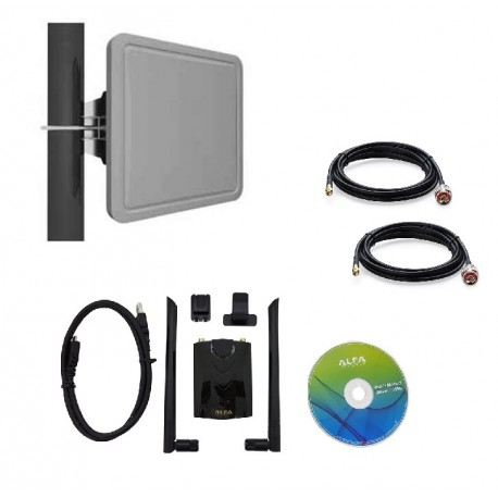 Antenne WiFi panneau 5GHZ + 2.4 ghz directionnelle AWUS036ACH 12 DBI AC