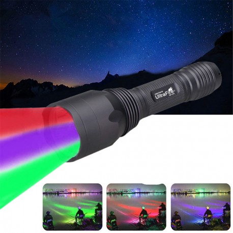 Ultrafire New UF-C10 Flashlight Red Green and UV hunting
