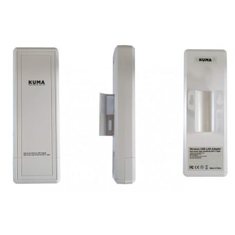 KUMA antena WiFi USB direcional para caravana 1,5 km de alcance