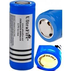 Protetto PCB Litio Ultrafire IMR-26650 batteria ricaricabile 3.7 v 4000mAH Blu