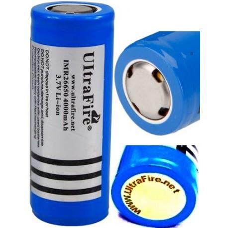 Protegida PCB de Litio Ultrafire IMR-26650 recargable 3.7v 4000mAH Azul