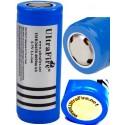 Tipo 26650 Protegida PCB Li-ion Ultrafire IMR-26650 recargable 3.7v 4000mAH Azul