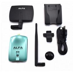 Antena WiFi direcional com RT3070 Chip Alfa AWUS036NH 2000 mW 7dBi