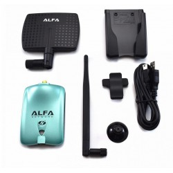 Antenne WiFi directionnelle avec puce RT3070 Alfa AWUS036NH 2000 mW 7dBi