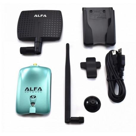 Antena WiFi direcional com RT3070 Chip Alfa AWUS036NH 2000 mW