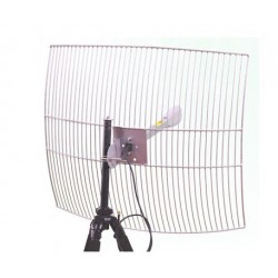 Antena Parabolica WiFi 24dbi rejilla Interline G-24-F2425-HV